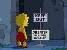 nie wchodzic ! albo wchodzić ,jestem tylko znakem nie policja . | | hahaha ^^ ach te memy :)
