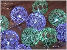 Własnoręcznie zrobione szydełkowe cotton balls <3