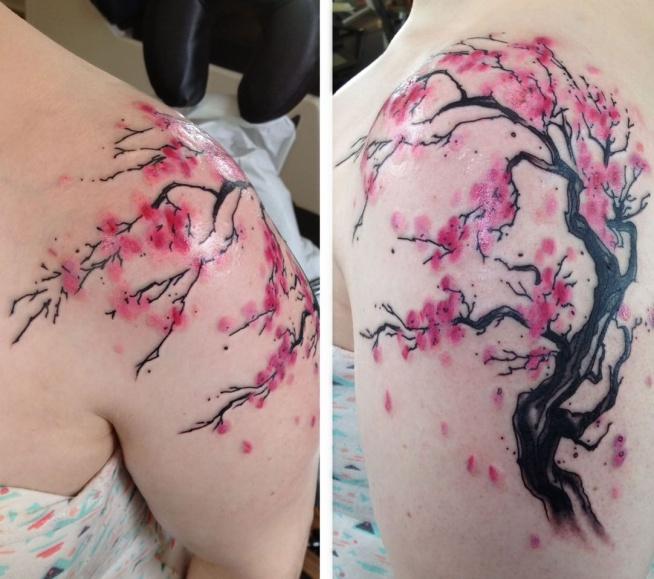 Kwiat Wiśni Tatuaż Na Tatuaże Zszywkapl