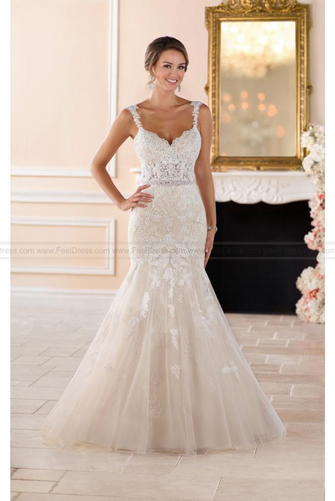 Stella York Sexy Lace Cut Out Wedding Dress Style 6378