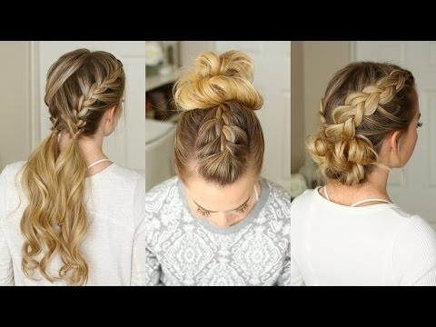 3 Easy Gym Hairstyles | Missy Sue
