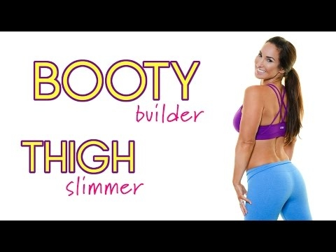 Booty Building, Thigh Slimming Workout | Natalie Jill