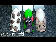 MYSZKI - Gray Mouse Nail Ar...