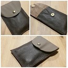 Tasha handmade clutch leath...