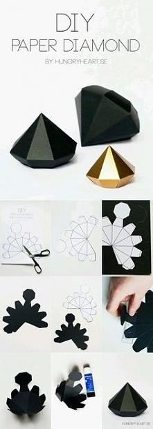 origami diament