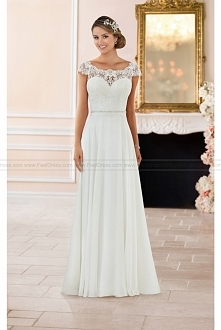 Stella York Off The Shoulder Lace Back Wedding Dress Style 6365