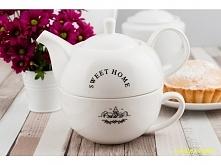 Piękny zestaw do herbaty sk...