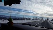 Krajowa 33 w zimie. Piękności.