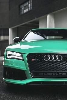 Audi RS7 w miętowym wydaniu * .*