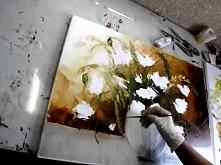 filmik obraz olejny malowany szpachlą Oil painting palette knife