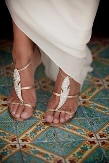 Buty ślubne.