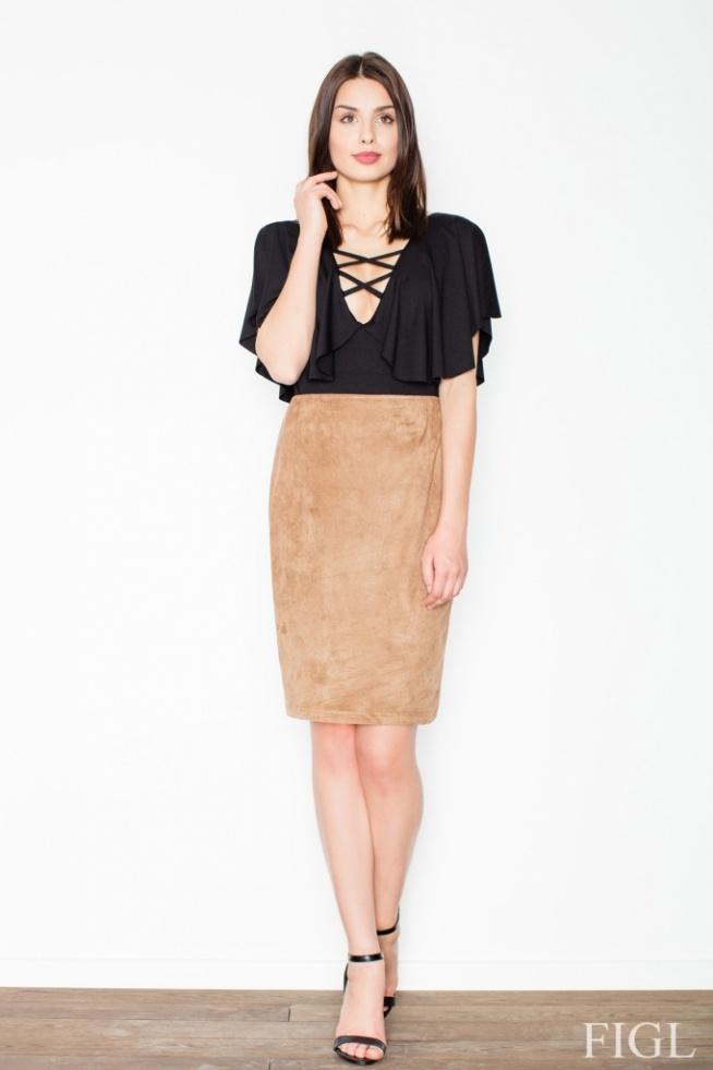 Piękna zamszowa spódnica. Idealna na spotkanie biznesowe. Będziesz wyglądać w niej stylowo.