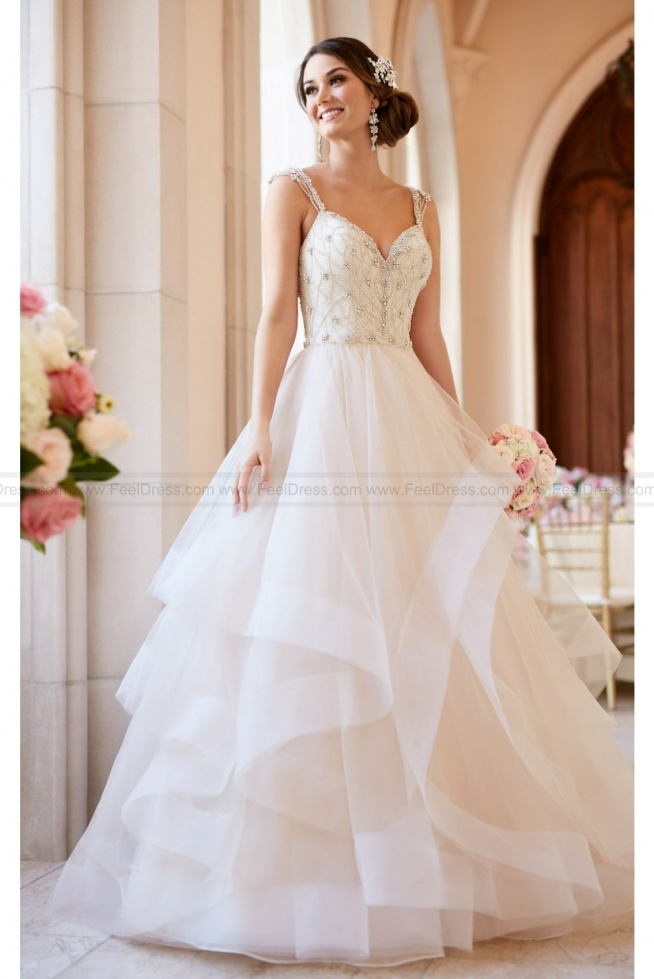 Stella York Beaded Lace Wedding Dress With Sweetheart Neckline Style 6309