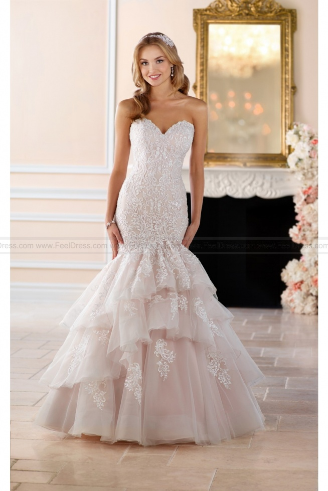Stella York Dramatic Lace Fit And Flare Wedding Dress Style 6405
