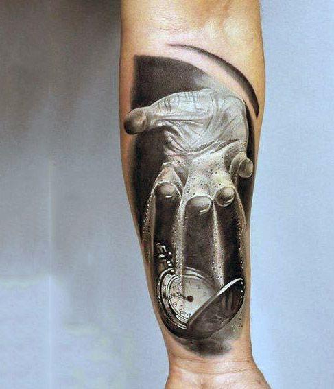Tatuaże 3d Dłoń I Zegar Na Tatuaże Zszywkapl