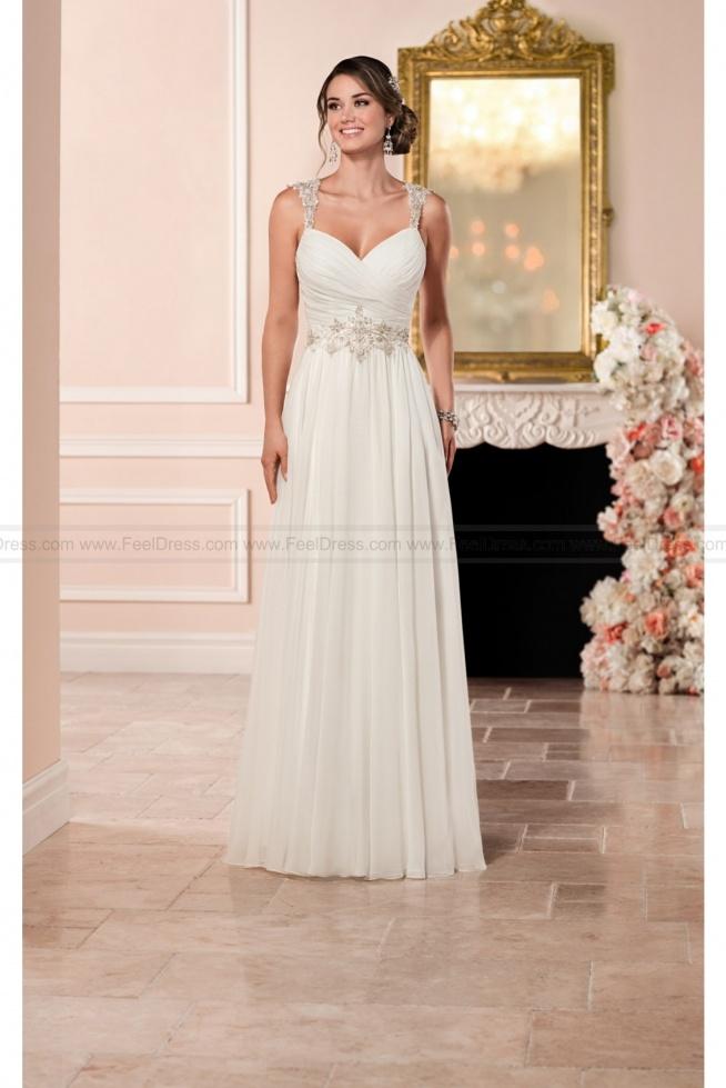 Stella York Romantic Wedding Dress With Keyhole Back Style 6348