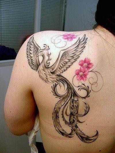 Tatuaże Damskie Phoenix Na Plecy Na Tatuaże Zszywkapl