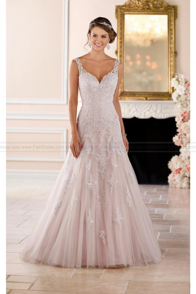 Stella York Sparkling Silver Lace Wedding Dress Style 6401