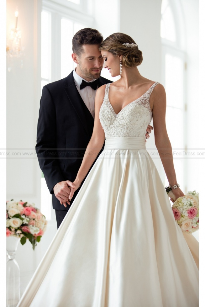 Stella York Ball Gown Wedding Dress With Sash Style 6447