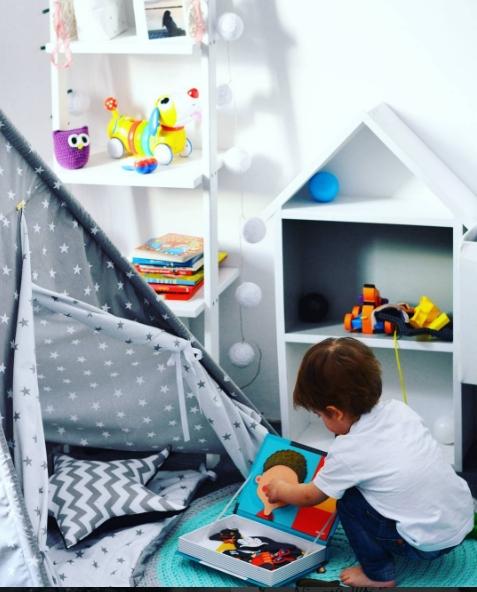 Drabina dekoracyjna w pokoju dziecięcym.  Drabiny znajdziecie na Allegro -->> użytkownik domowepielesze2