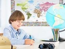 Mapa świata eduart do pokoju dziecka - sposób na szybszą naukę. :)