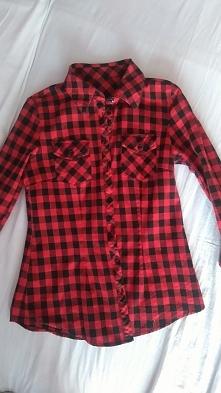 SPRZEDAM czerwono_czarna koszula w kratę stan bardzo dobry 35zł z przesyłką r...