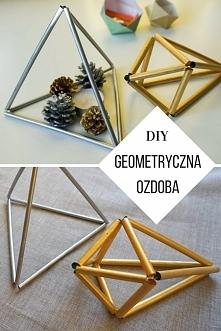 DIY Oryginalna, geometryczna ozdoba ze słomek Nowoczesne Himmeli