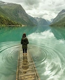 Jezioro Lovatnet - Norwegia :)