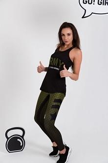 """Idealne spodnie sportowe na siłownie lub fitness. Wykonane z najwyższej jakości materiałów. Projektowane oraz szyte w Polsce. Legginsy sportowe z wojskowym motywem """"ARMY&qu..."""