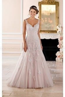 Stella York Sparkling Silver Lace Wedding Dress Style 6401