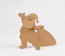 Mikołaj z tektury DIY. Darmowy szablon do pobrania po kliknięciu w obrazek ;)
