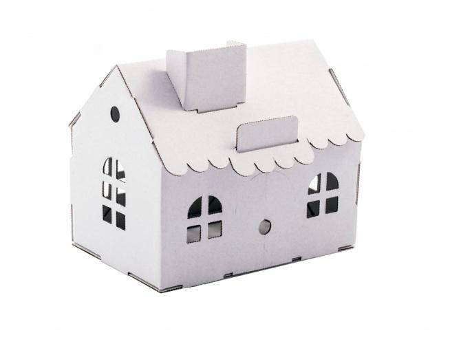 Mały domek z tektury do złożenia bez kleju i nożyczek! Super zabawa dla dzieci. Po złożeniu Domek można fantastycznie udekorować :)
