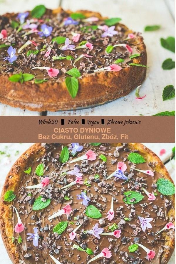 Ciasto dyniowe, zdrowe słodycze, bez glutenu, cukru, zbóż, proste i łatwe w przygotowaniu.