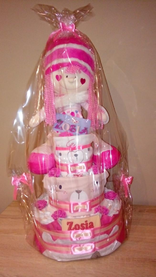 tort z pampersów dla Zosi