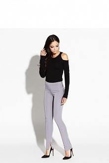 Spodnie damskie, szare wyso...