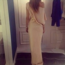 women, long, pink, dress, glam