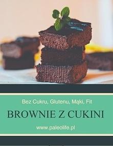 Czekoladowe brownie z cukini, bez cukru, bez glutenu.  Zdrowe, pyszne i soczy...