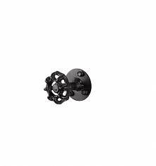 Wieszak ścienny pojedynczy w kształcie kurka - zaworu w kolorze czarnym. Oryginalny i wyszukany wieszak do łazienki lub wieszak na korytarz.  Wieszaki udekorują wnętrza urządzon...