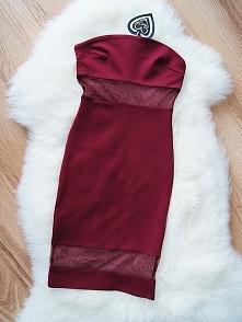 """Sprzedam sukienkę ASOS, nową z metką w rozmiarze S. Licytacja z opcję """"kup teraz na allegro: allegro. pl/bordowa-dopasowana-sukienka-z-siateczka-asos-sexy-i6687601369.html ..."""