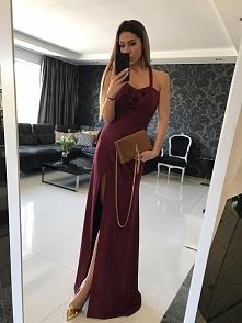 Maxi bordowa sukienka Illuminate <3 <3 <3