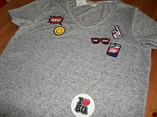t shirt with badges