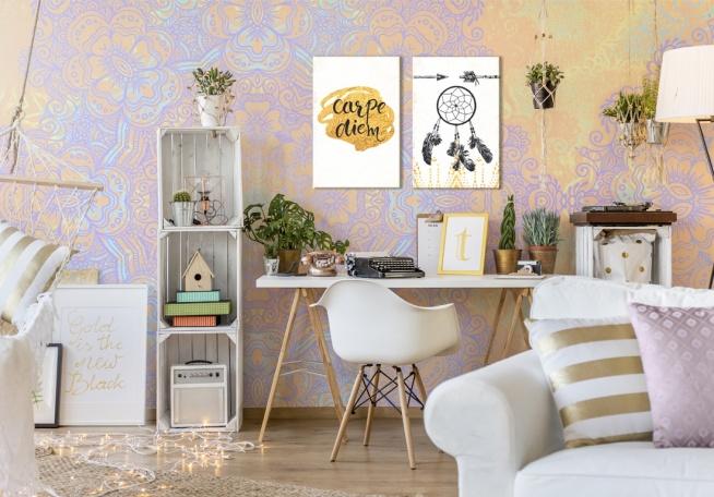 Kolorowy, szalony styl boho w nowoczesnej formie. My jesteśmy za! Więcej inspiracji na naszym blogu bimago.