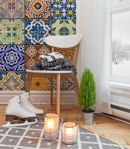 Ta mozaikowa tapeta naprawdę robi wrażenie!