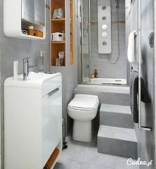 sposób na malutką łazienkę;)