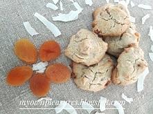 Pyszne morelowo kokosowe ciastka owsiane - przepis myownpleasures.blogspot.com