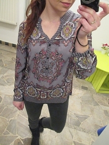 Koszula szarość/ fiolet 89zl z wysyłką poleconą