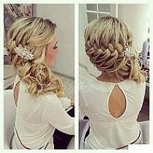 skromna a za razem bardzo fajna fryzura ślubna