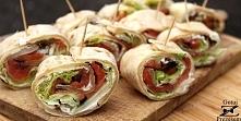 Tortilla z łososiem - extra przekąska na imprezę! Niektóre imprezowe przepisy...