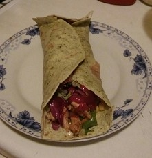 Tortilla na kolacje mniam mniam :D