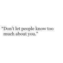 Nigdy nie wiadomo jak ktoś ...